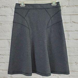 Cue A Line Skirt  Gray Side Zipper Stretch Career